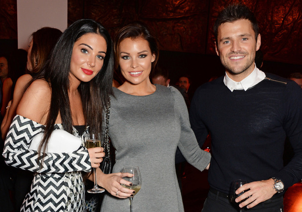 Mark and Jessica Wright attend Jonathan Shalit's OBE party at Avenue with Tulisa, London, 14 Oct 2014