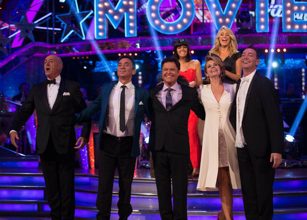 Strictly Come Dancing results show - Judges on the dance floor - BBC One -12 October.