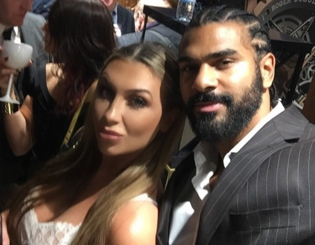TOWIE's Lauren Goodger hangs out with David Haye at PT Club launch party Frost of London - 14 October 2014