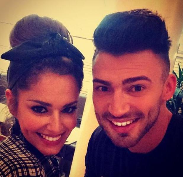 X Factor's Jake Quickenden takes selfie with judge Cheryl Fernandez-Versini - 16 October.