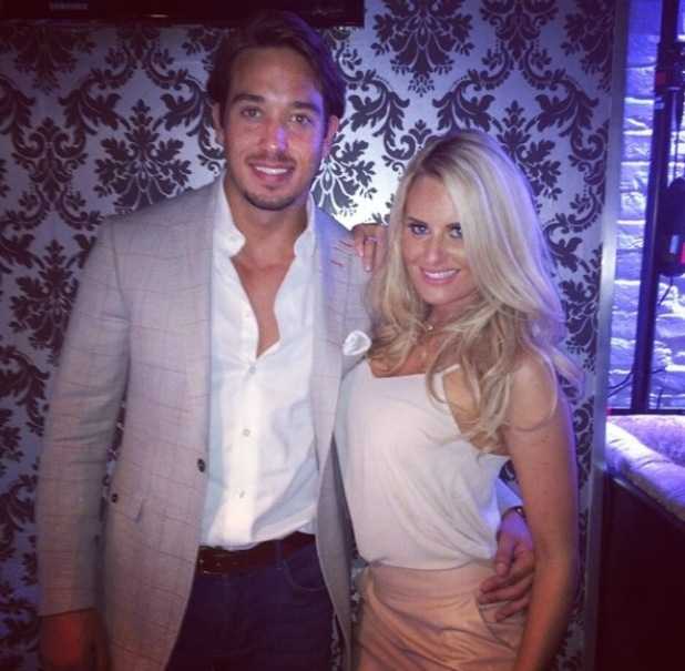 TOWIE's Danielle Armstrong and James Lock pose for a new picture - 13 October 2014