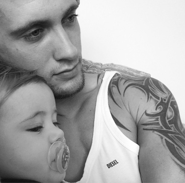 Dan Osborne shares a photo of himself and Teddy 16 October
