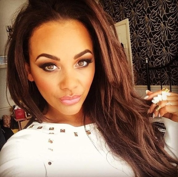 Chelsee Healey shows off her glamorous make-up look in a selfie - 13 October 2014