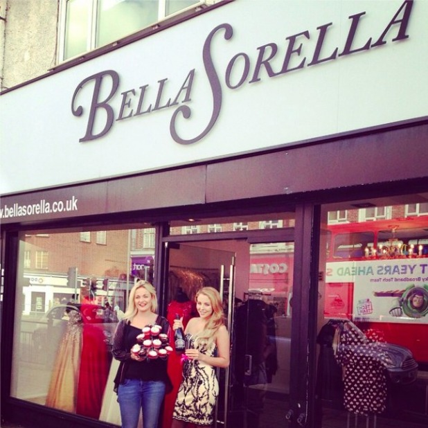 TOWIE's Lydia Bright celebrates her boutique's 3rd birthday, 17 October 2014