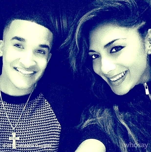 Nicole Scherzinger takes selfie with Jahméne Douglas after intimate music showcase in London - 14 October.