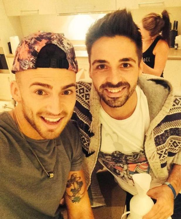 X Factor's Jake Quickende and Ben Haenow pose for selfie (14 October).