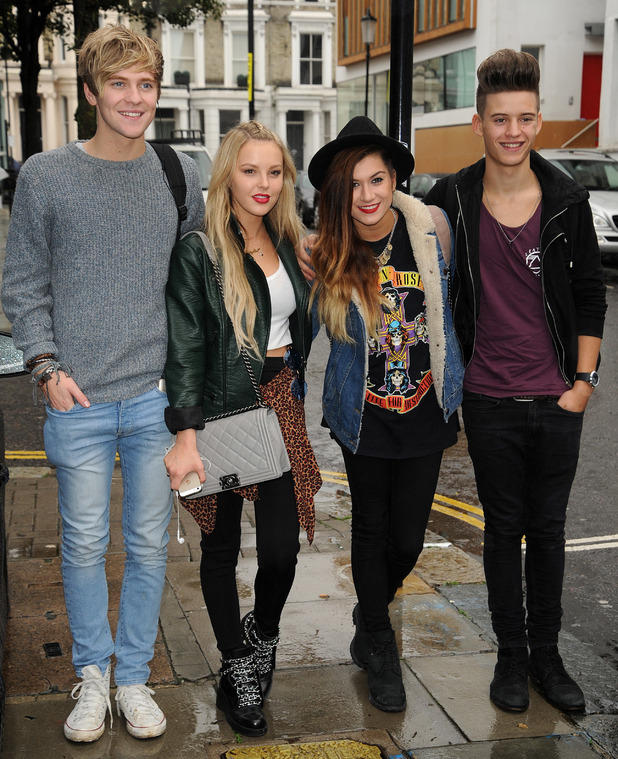 X Factor contestants Only The Young at Notting Hill Studio - 13 October 2014.