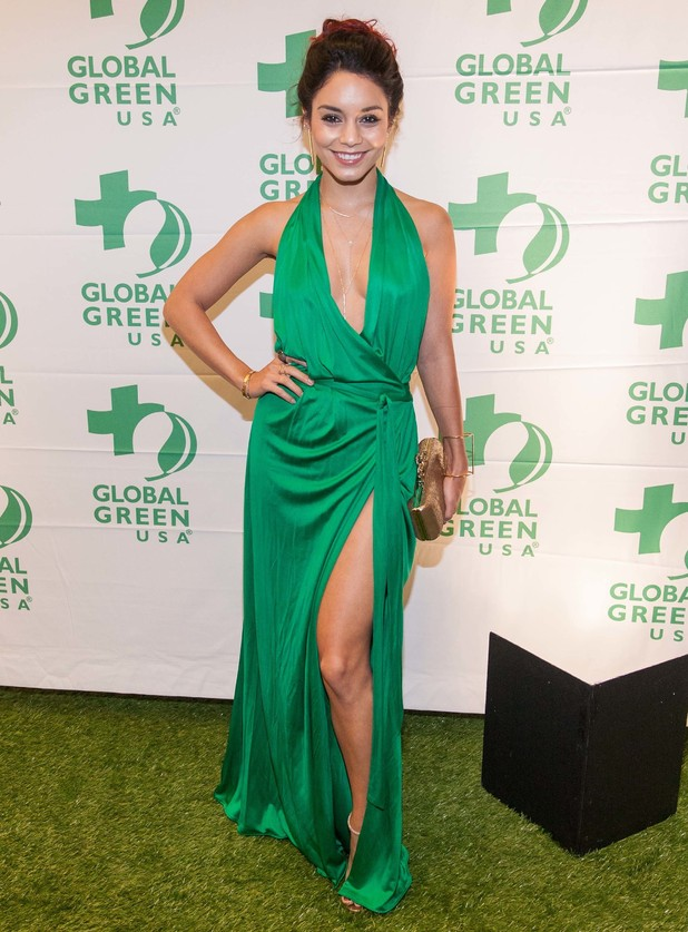 Vanessa Hudgens attends the Global Green USA 10th anniversary celebration for the Gorgeous & Green Gala in San Francisco, America - 11 October 2014