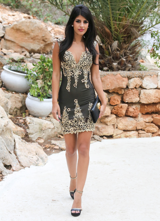 Jasmin Walia at TOWIE's black and gold-themed party in Ibiza, Spain - 29 September 2014