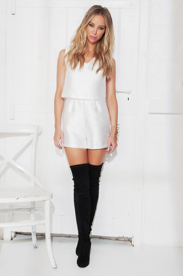 TOWIE's Lauren Pope models her autumn/winter '14 clothing collection for InTheStyle.com - October 2014