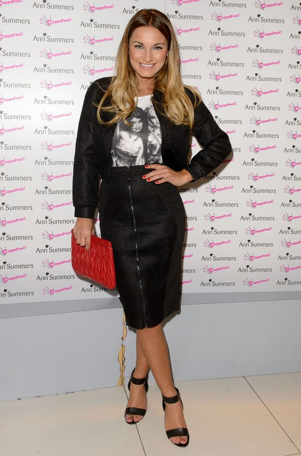 Sam Faiers attends Ann Summers' CoppaFeel party in London, England - 16 October 2014