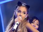 Ariana Grande rocks silver leotard and thigh-high boots at Teen Awards