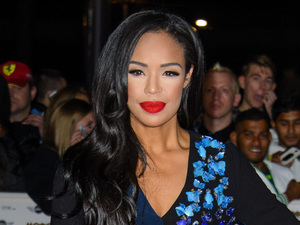 Xtra Factor's Sarah-Jane Crawford in luxe embellished dress at MOBOs