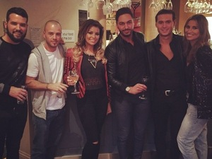 Jessica Wright does lunch with Ricky Rayment and TOWIE co-stars