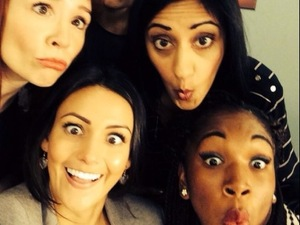 Michelle Keegan has fun on set of new TV show Ordinary Lives