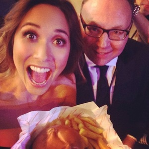 Myleene Klass' manager sneaks burger and chips into MOBOs 22 October