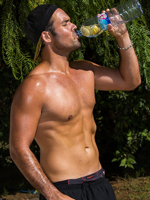 Made In Chelsea's Spencer Matthews at No 1 Boot Camp in Ibiza.