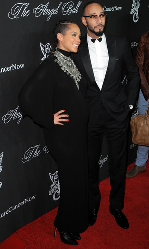 Pregnant Alicia Keys and Swizz Beatz at Gabrielle's Angel Foundation Hosts Angel Ball 2014 - Red Carpet Arrivals