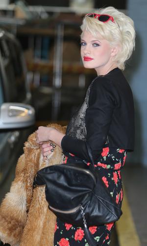 X Factor contestant Chloe-Jasmine Whichello outside the ITV studios - 20 October.