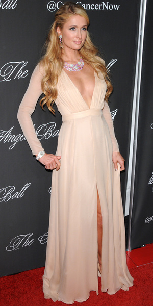 Paris Hilton attends the Angel Ball in New York, America - 20 October 2014