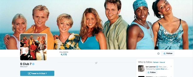 S Club 7 appear to confirm comeback by setting up official Twitter account - 20 Oct 2014