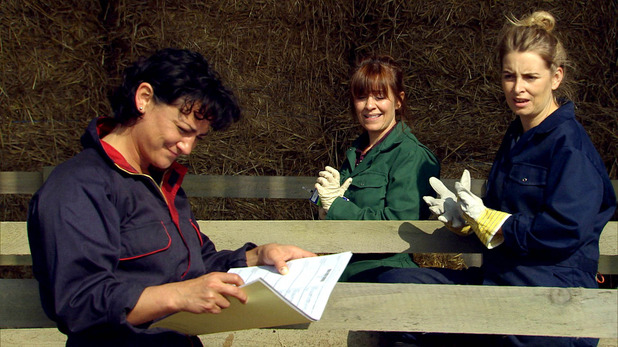 Emmerdale, Moira and Charity work on the farm, Fri 24 Oct