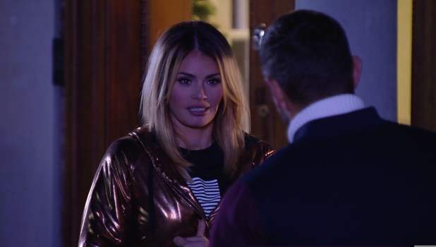 TOWIE's on-off couple Chloe Sims and Elliott Wright come face to face, 25 October 2014
