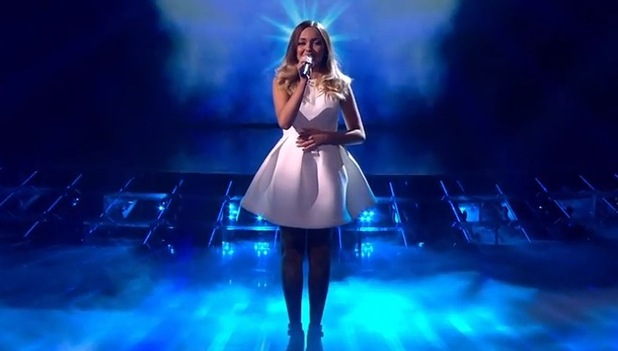 Lauren Platt performs on The X Factor - 18 October 2014