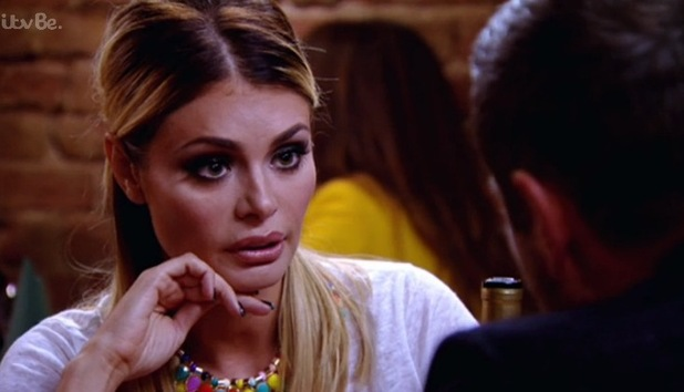 The Only Way Is Essex - Chloe Sims and Elliott Wright meet up for dinner. Episode airs - Wednesday 22 October 2014.