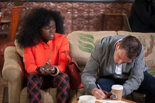 Hollyoaks, Blessing conned? Mon 27 Oct