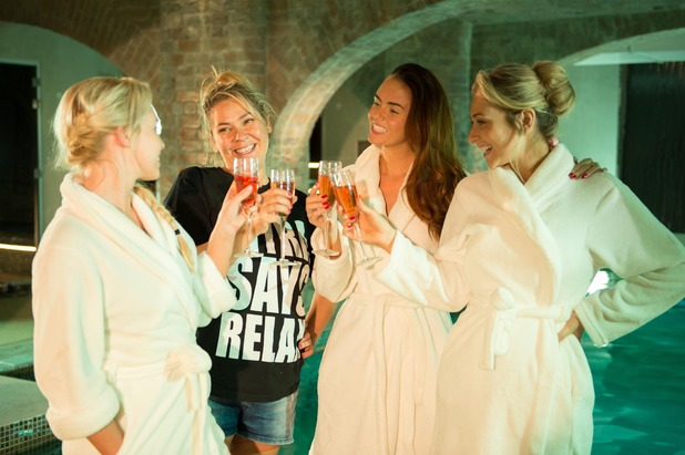 Hollyoaks, McQueens' spa day, Tue 28 Oct
