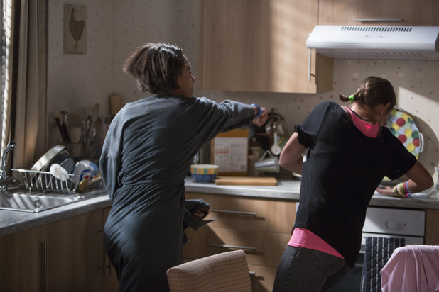 EastEnders, Tosh punches Tina, Tue 28 Oct
