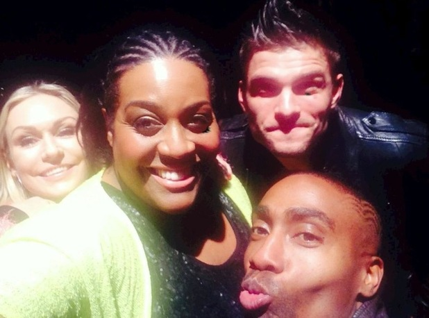Alison Hammond, Simon Webbe, Kristina Rihanoff, and Aljaz Skorjanec at Big Reunion Boy Band Tour - 22 October 2014