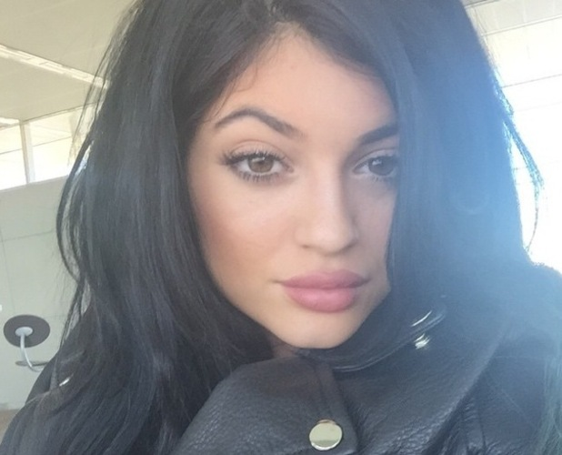 Kylie Jenner shows off her make-up in an Instagram picture - 8 October 2014