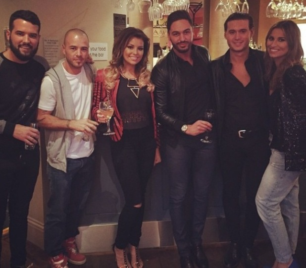 TOWIE's Jessica Wright does lunch with the gang - 19 Oct 2014