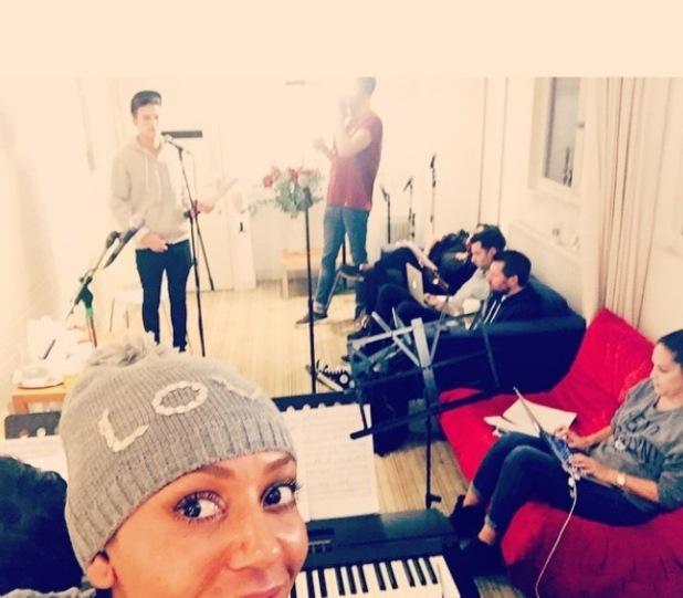 X Factor's Mel B rehearses with Jack Walton - 21 Oct 2014