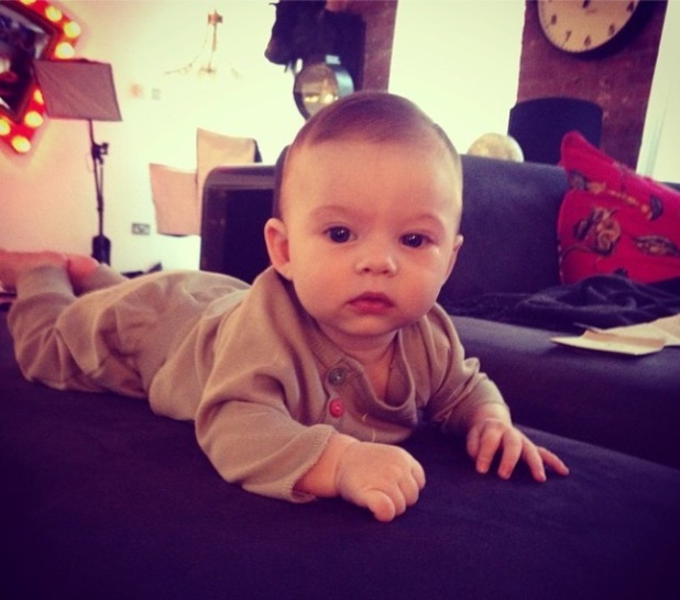 Jessica-Jane Clement shares new photo of her baby son - 20 Oct 2014