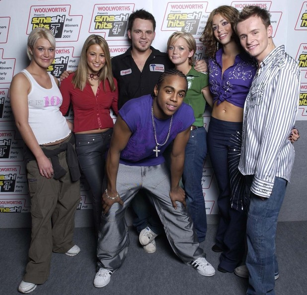 British pop group S Club 7 at the Smash Hits Poll Winners party in London on December 9, 2001.