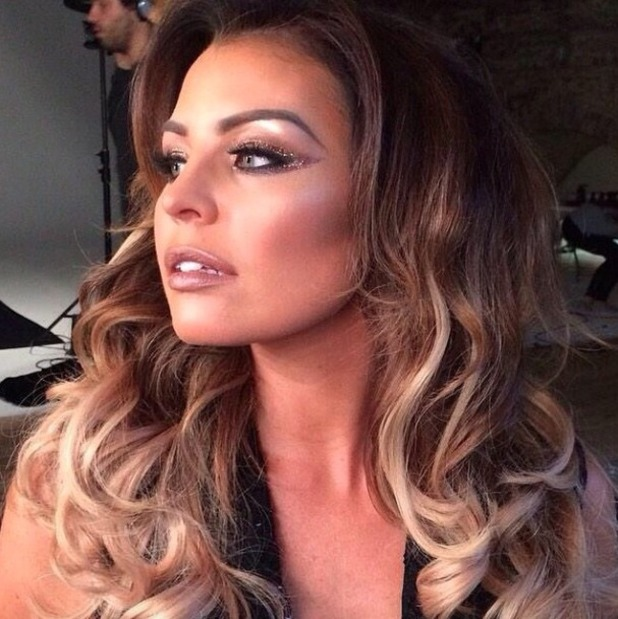 Jess Wright's sparkly make-up for Lipstick Boutique shoot, by Krystal Dawn, 2 October 2014