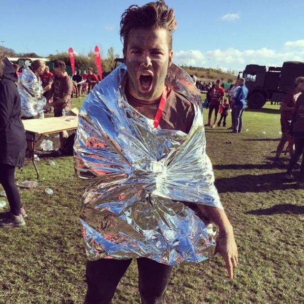 Joe McElderry gets muddy in charity run - 20 Oct 2014