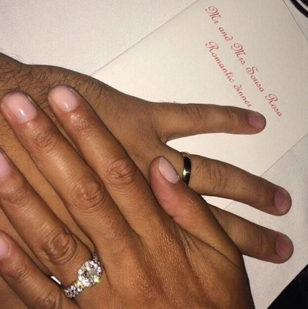 Amelle Berrabah marries fiance after whirlwind engagement, Mauritius 17 October