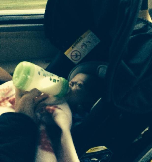 Sam Bailey shares new photo of baby daughter Miley on a road trip - 21 October.