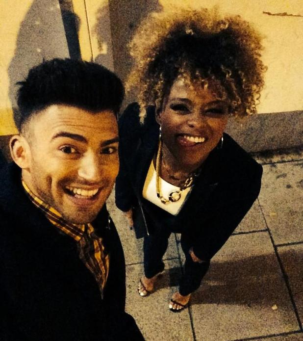 X Factor's Fleur East and Jake Quickenden at the MOBO Awards - 22 Oct 2014