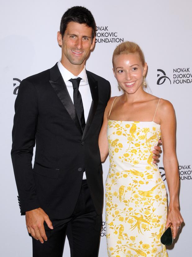 The Novak Djokovic Foundation New York Dinner - red carpet arrivals 09/10/2013 Manhattan, United States