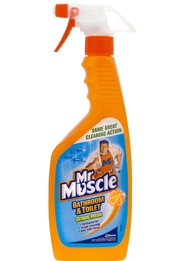 Shopkeeper John Seabright uses Mr Muscle to see off armed robbers