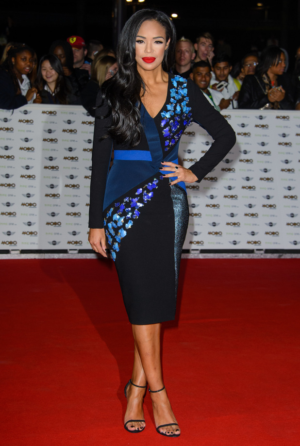 Xtra Factor's Sarah-Jane Crawford attends the MOBO Awards in London, England - 22 October 2014
