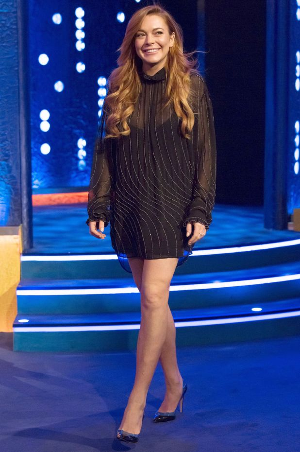 Lindsay Lohan appears on The Jonathan Ross Show, 25 Oct 2014