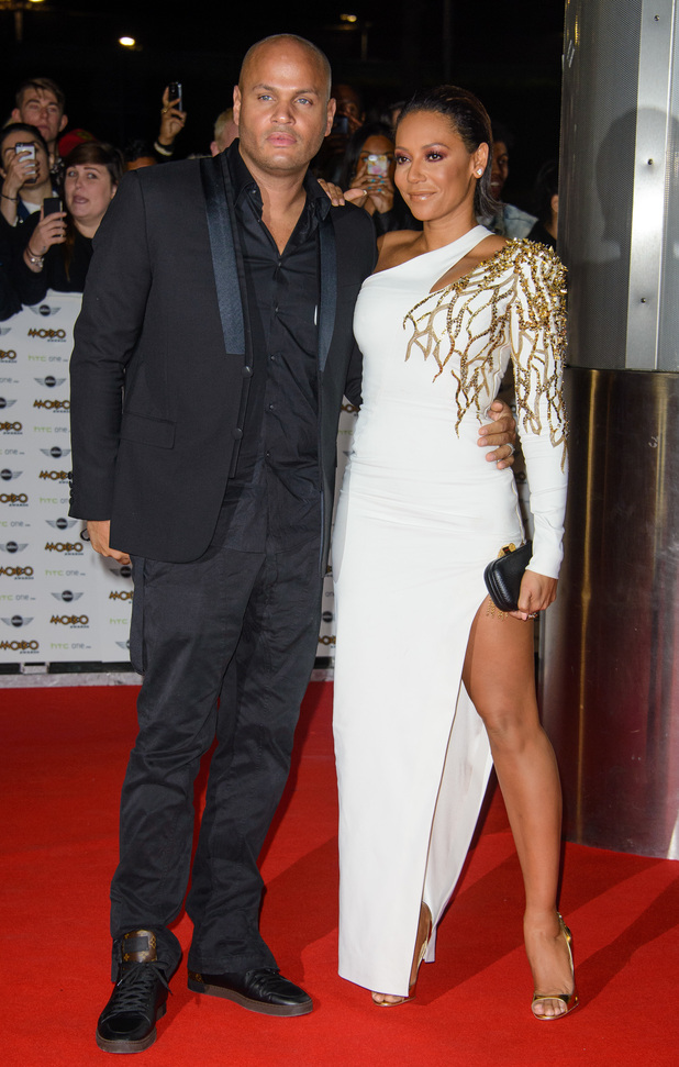 X Factor's Mel B at The MOBO Awards 2014 held at Wembley arena - Arrivals. 23 October 2014.