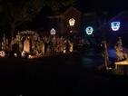 Creepy Halloween house display flashes to Michael Jackson's 'Thriller'
