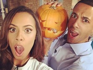Marvin Humes treats Rochelle Humes to a spooky surprise on This Morning